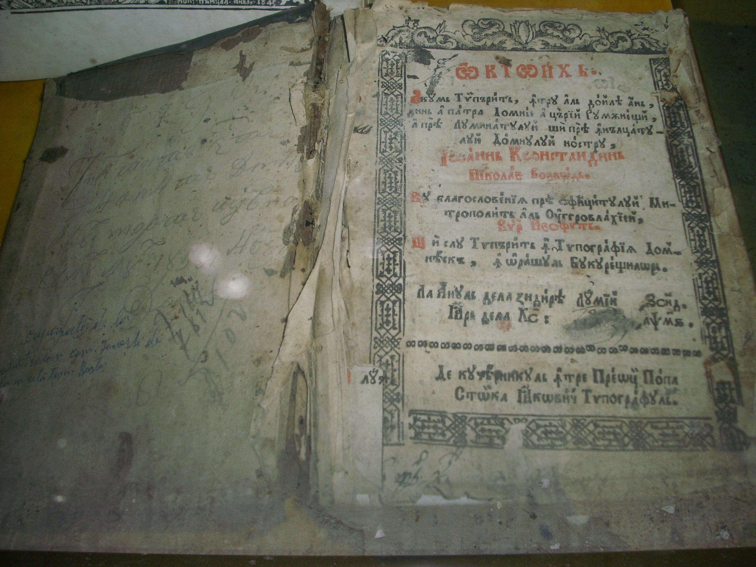 Un Octoih, alte carti interzise